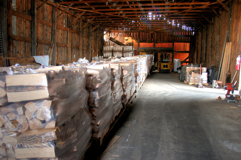 Pallets in the Shed - from West End Firewood