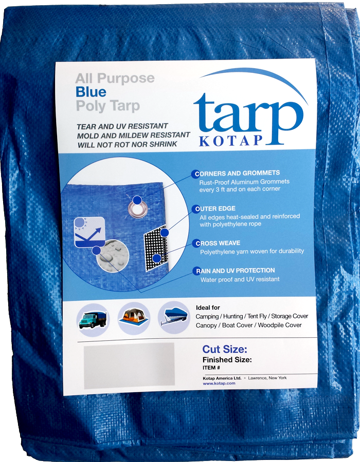Light duty - blue Kotap 20' x 40' tarp from West End Firewood