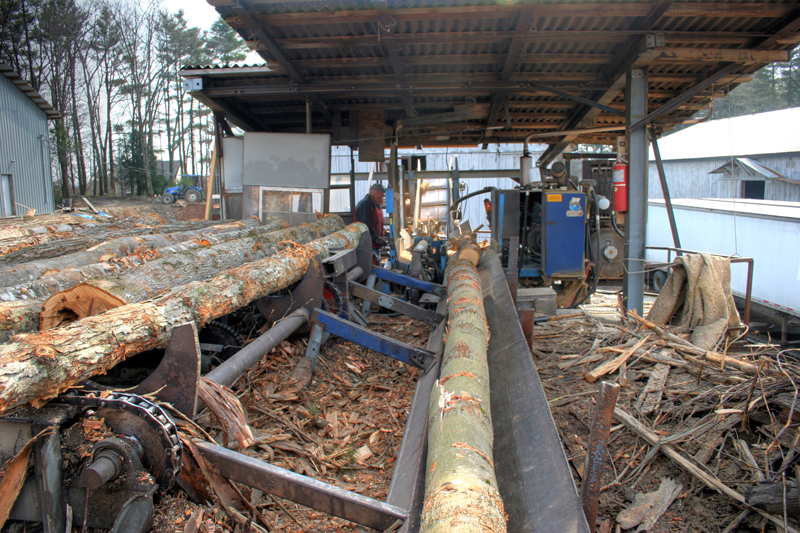 Log Processor at West End Firewood