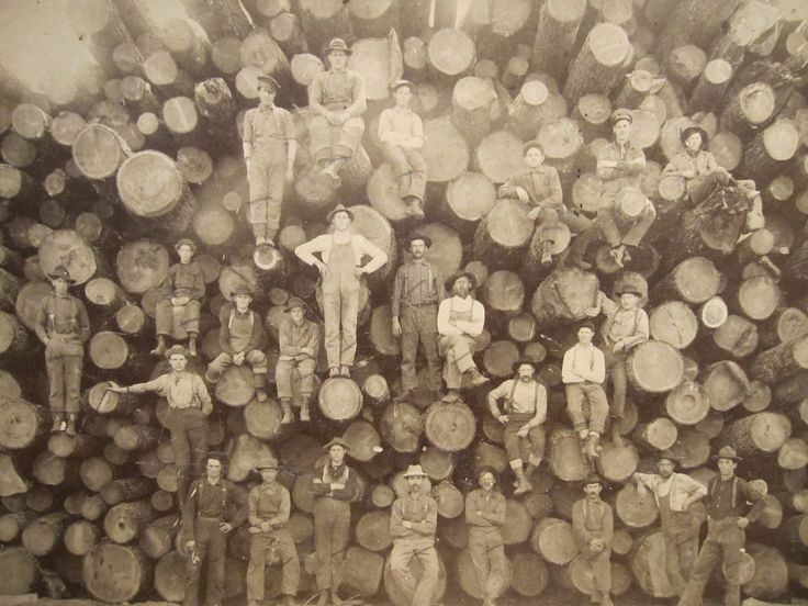 "A ""real"" old logging photo."