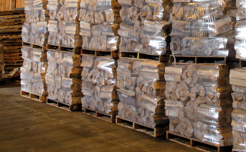 West End Firewood Pallets of Package Firewood, Inventory