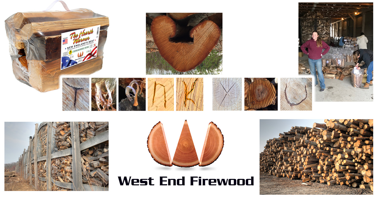 New packaing, West End Family Help and smiles, 2-stage seasoning firewood and logs.